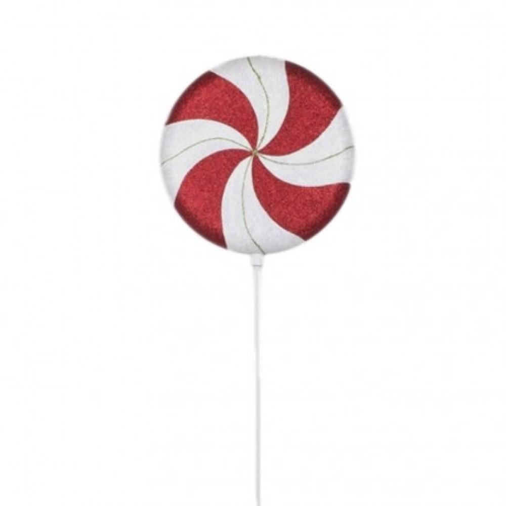 107 cm slikkepind, glitter, rød, hvid, grøn-31