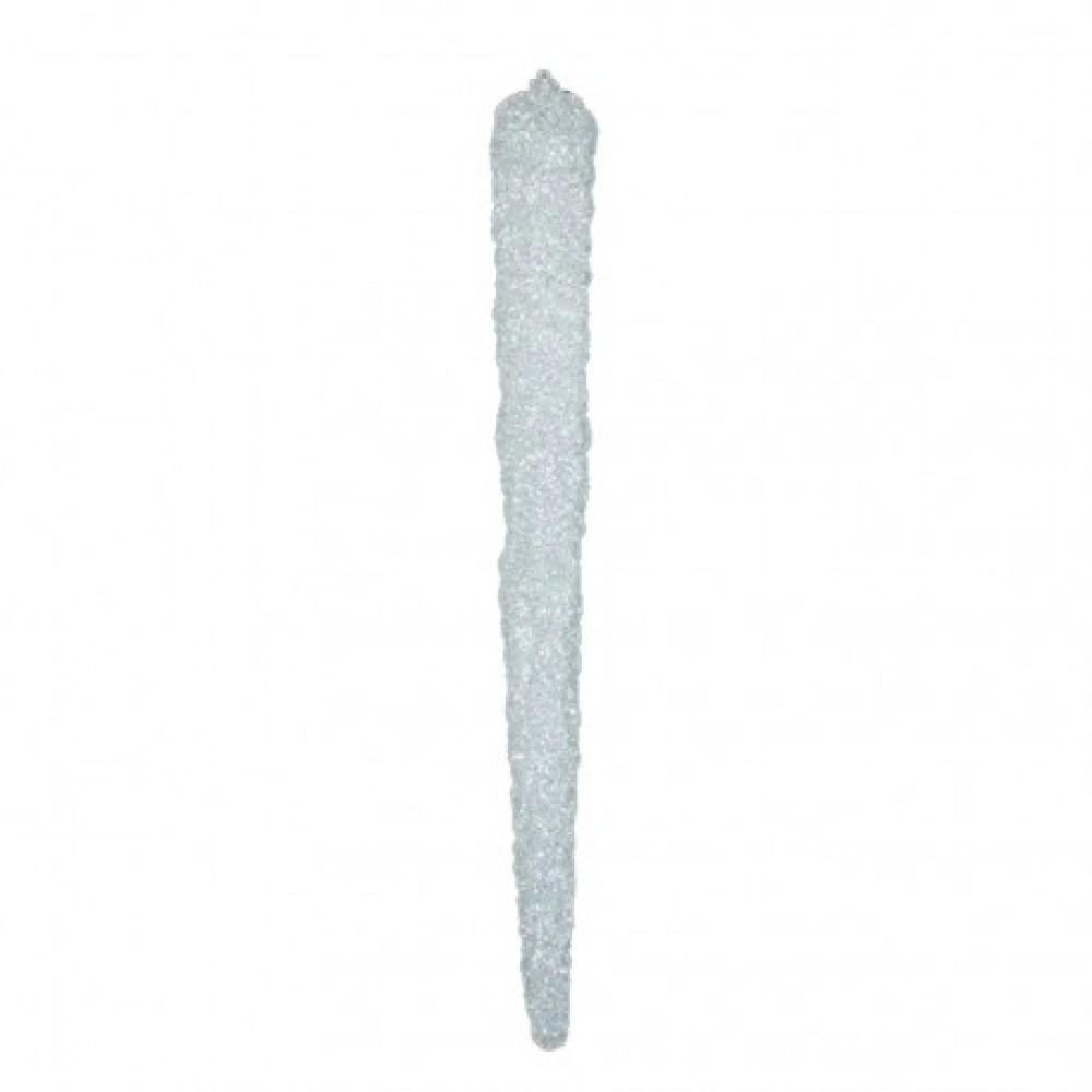 90 cm istap, grovglitter, hvid-32