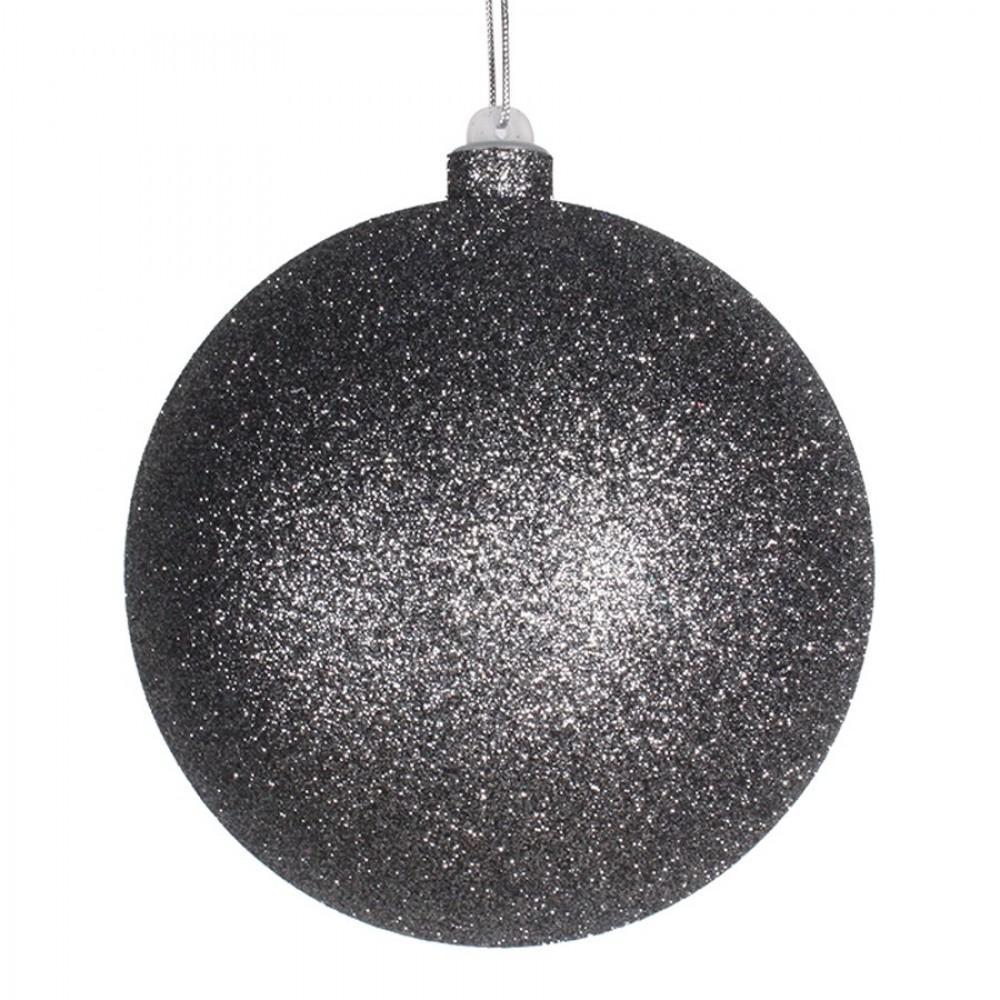 14 cm julekugle med glitter, gunpowder-32