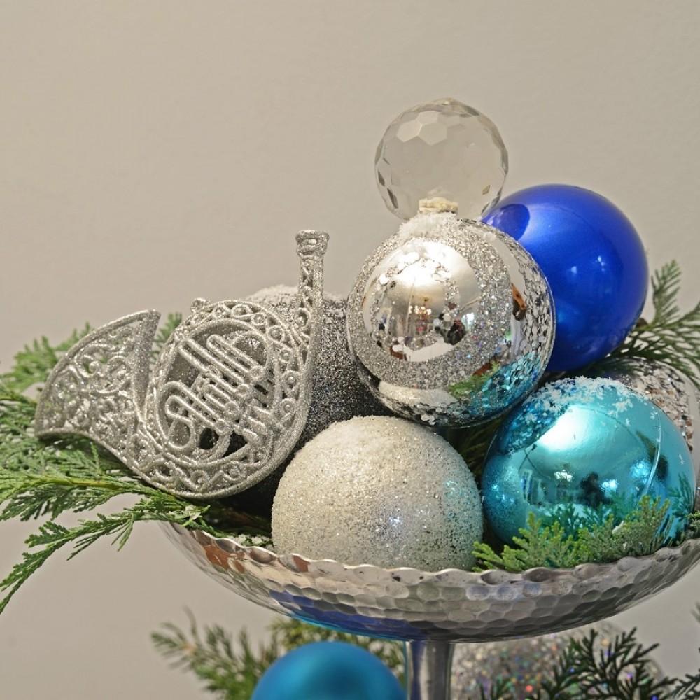 8 cm julekugle, frost, sølv-03
