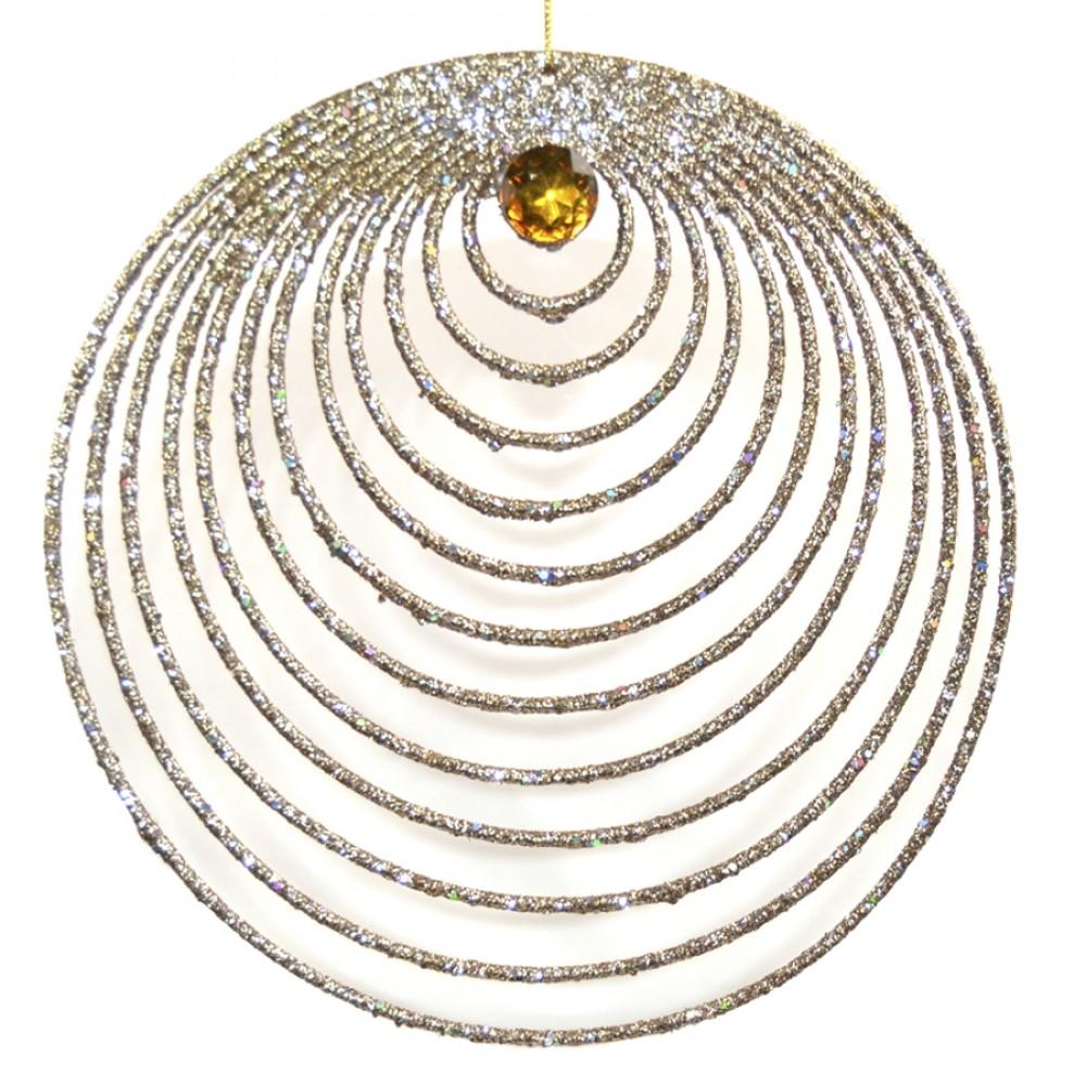 Guldornament, glitter m/simili, 20 cm-31