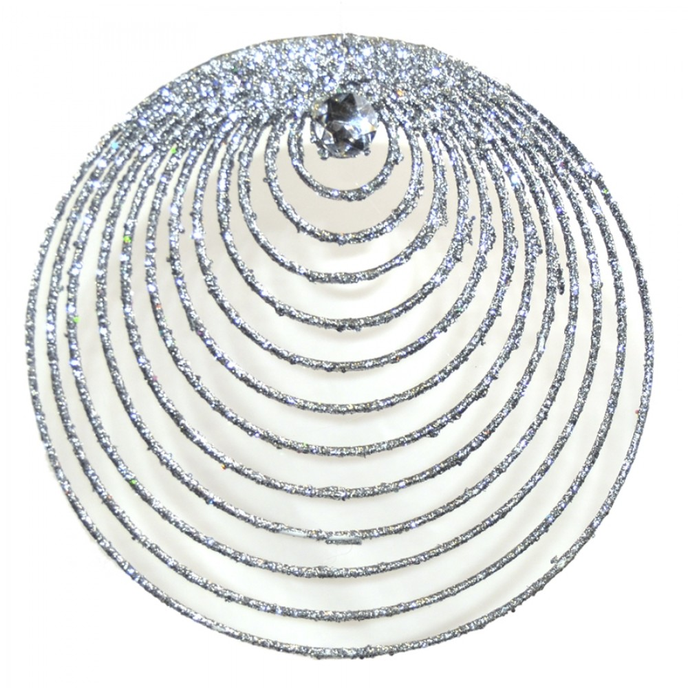 Sølvornament, glitter m/simili, 20 cm-31