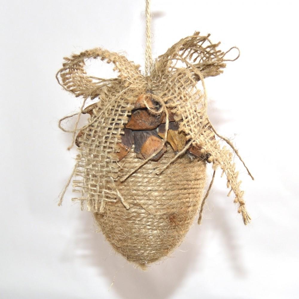 Juleornament med garn og kogle-deko, 10 cm-31