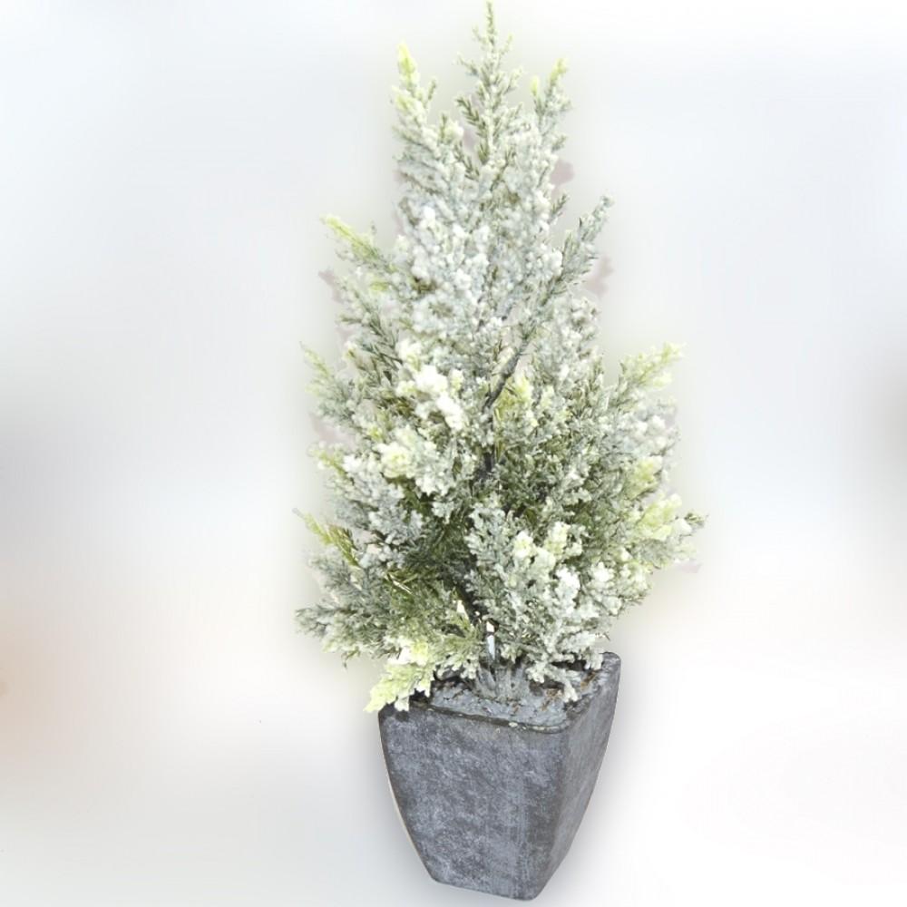 Træ i skjuler, m/sne, 36 cm-31