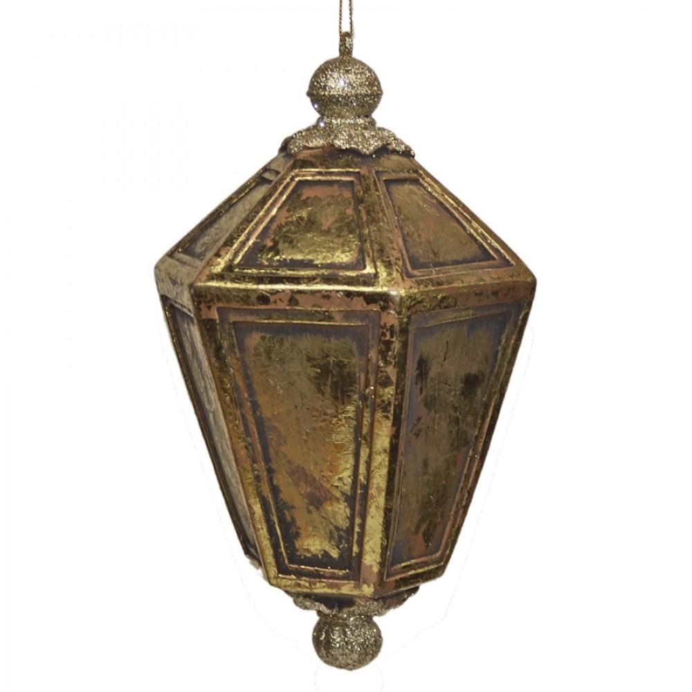 Lanterne, antik guld, 20 cm-31