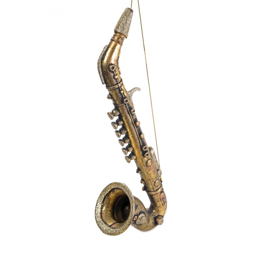 43 cm Saxofon, antik guld m/champagne glitter-31