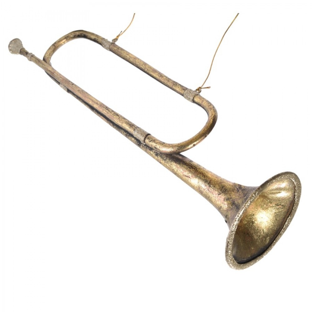 54 cm Signalhorn, antik guld m/champagne glitter-31