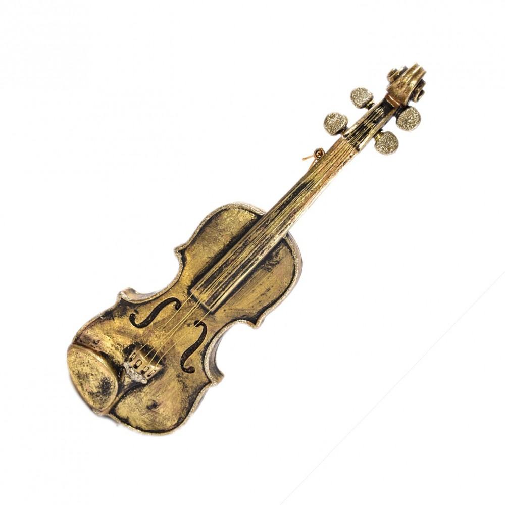 40 cm Violin, antik guld m/champagne glitter-31