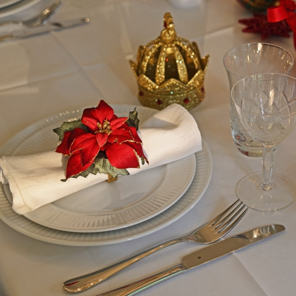 Servietring, julestjerne, sæt a 4 stk.-01