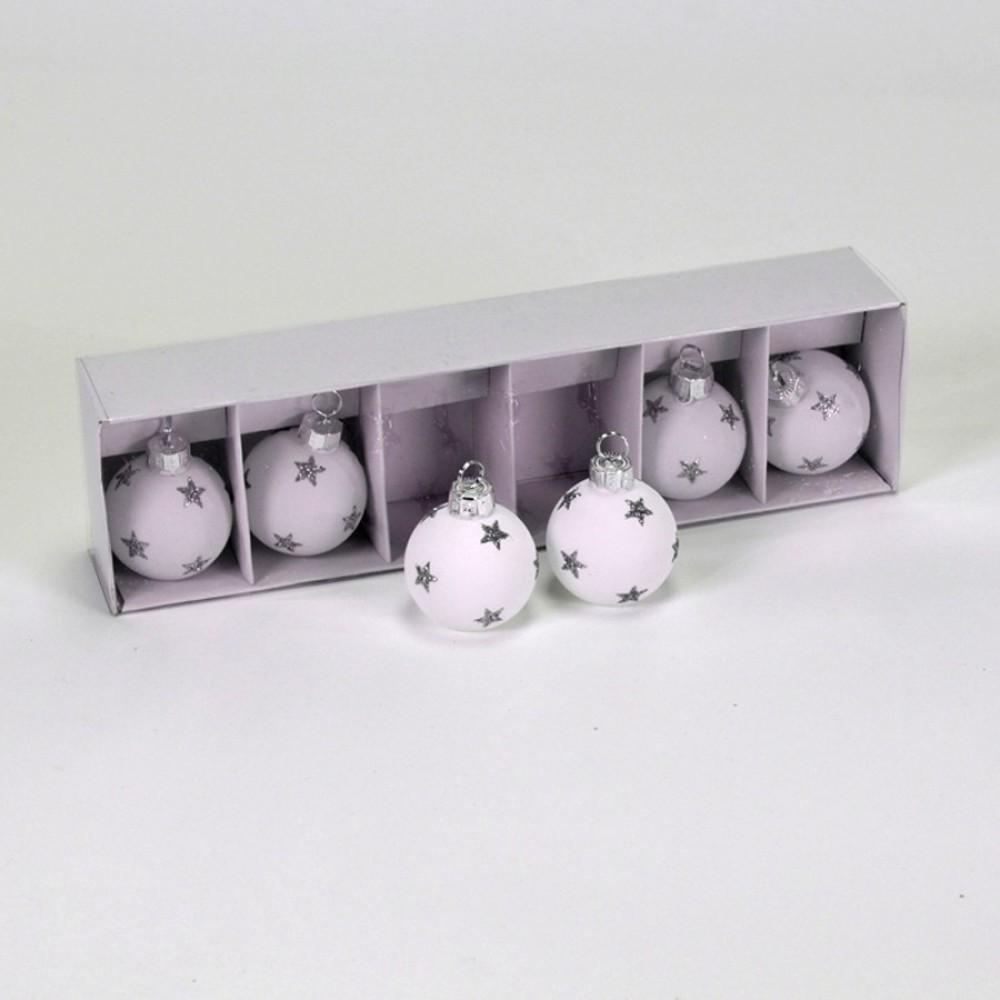 Bordkortholdere, hvid m/sølvstjerner-31