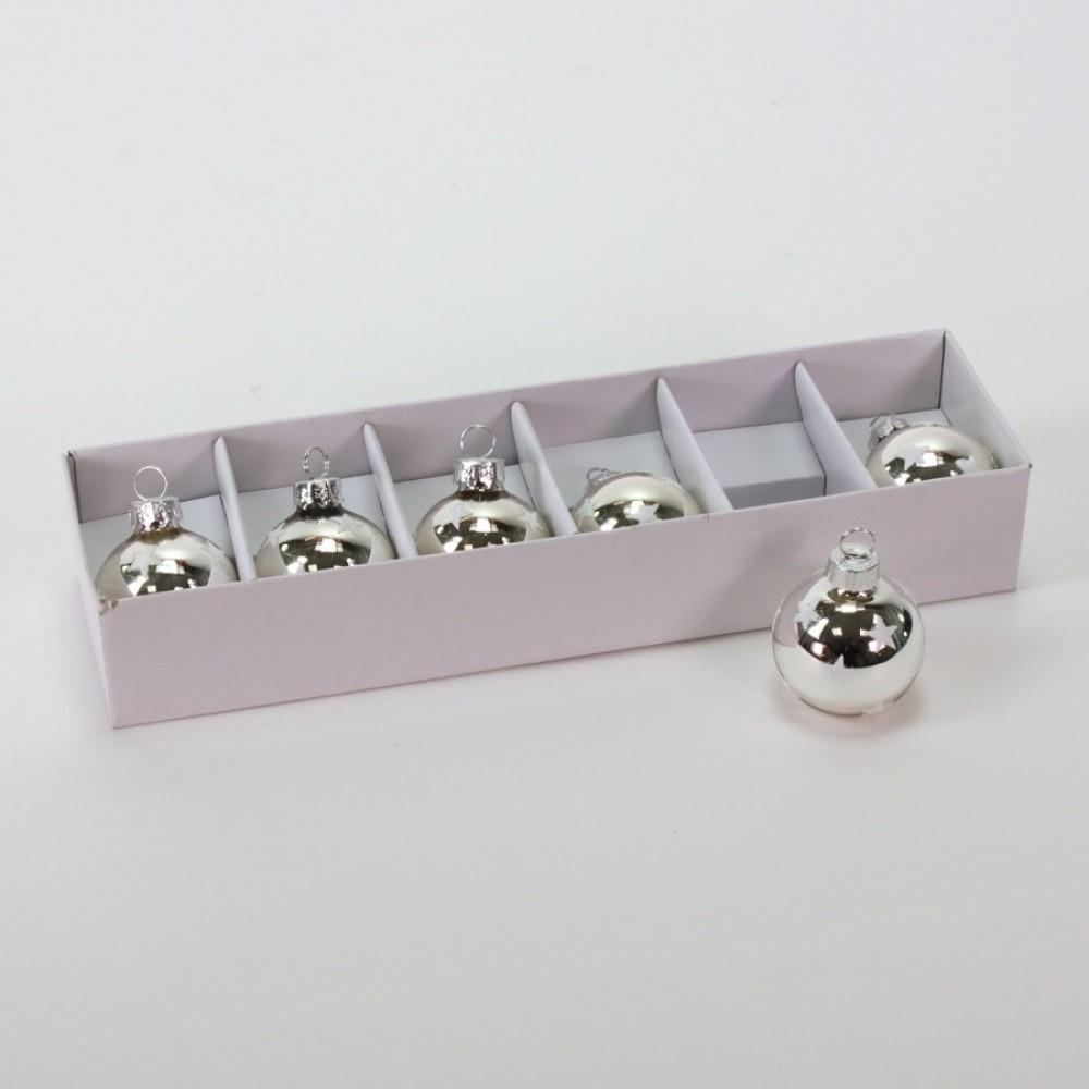 Bordkortholdere, sølv m/hvide stjerner-31