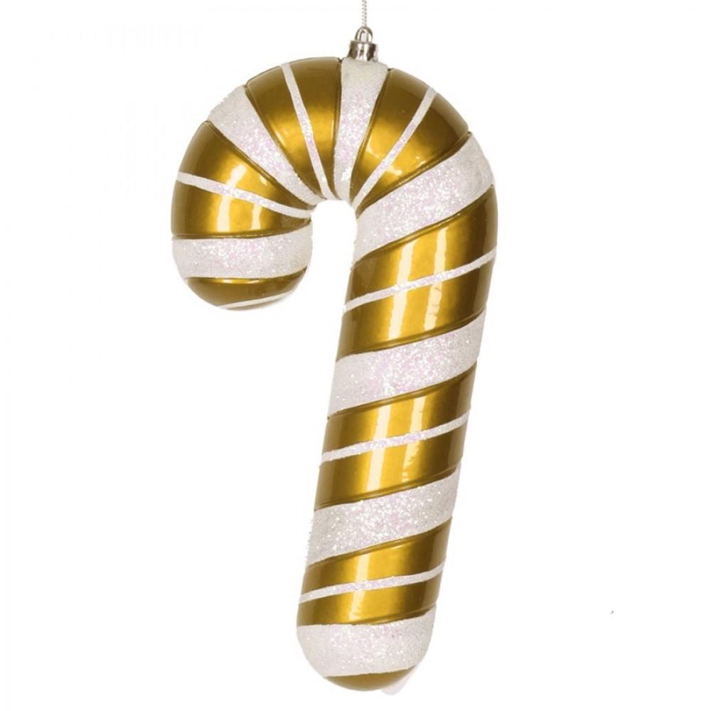 28 cm slikstok, perlemor, guld m/hvidt glitter-31