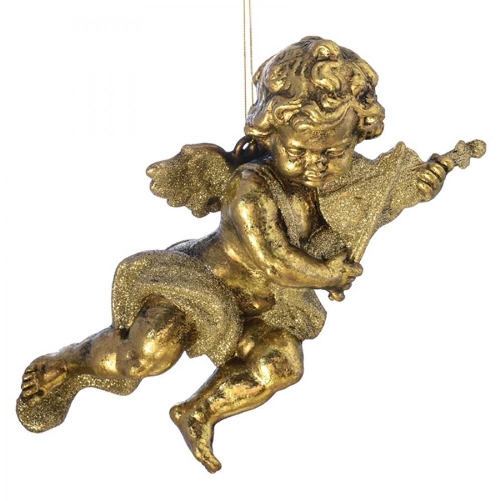 15 cm engle, antik guld, sæt a 2 stk.-03