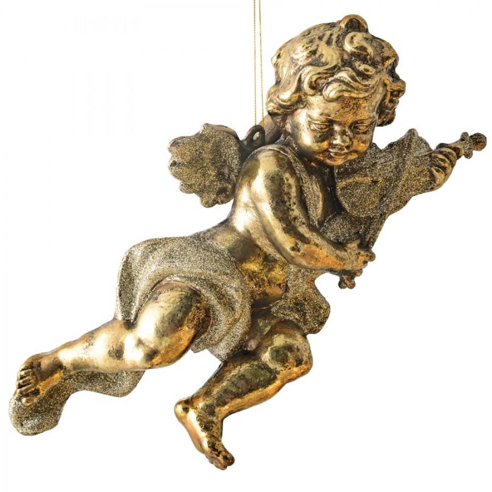 28 cm engle, antik guld, sæt a 2 stk.-01