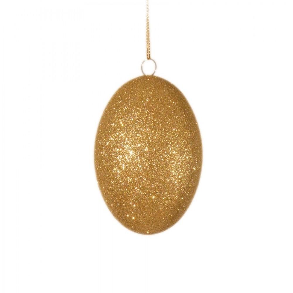 10 cm påskeæg med champagne glitter-31