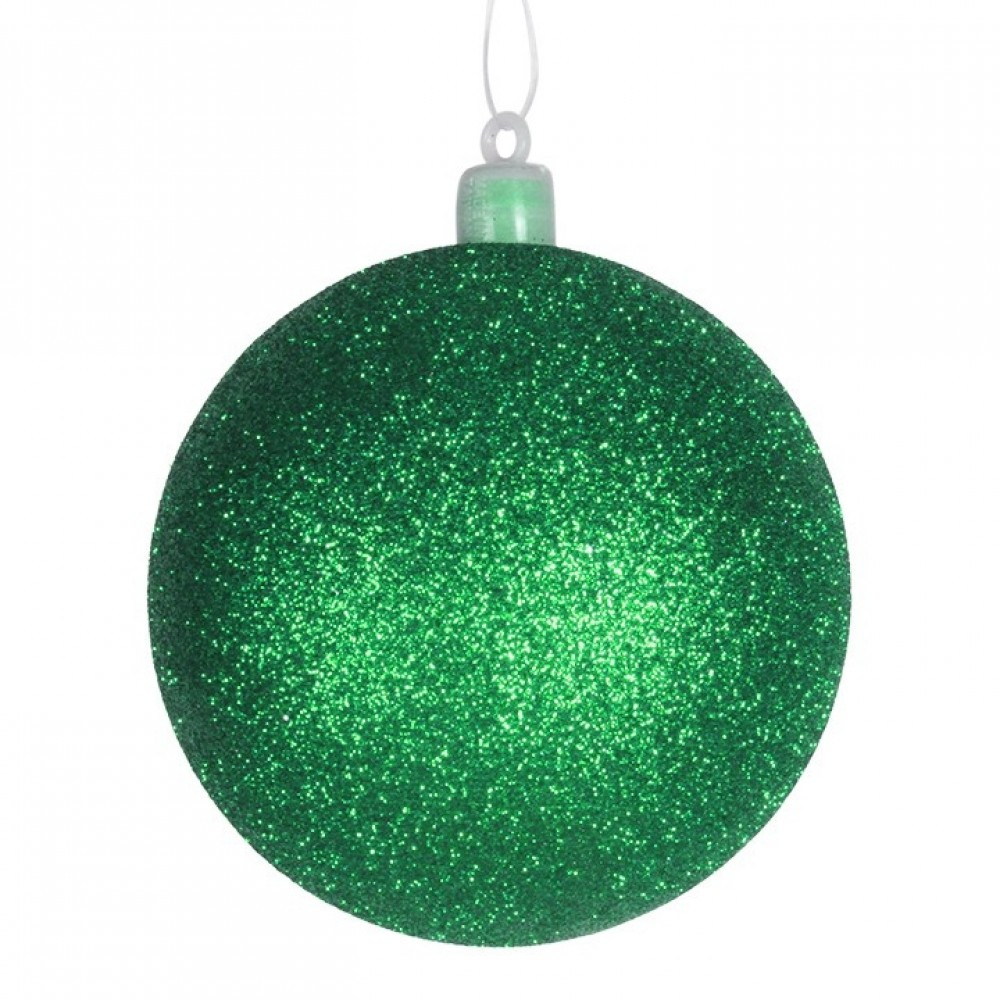 8 cm julekugle, glitter, grøn-31