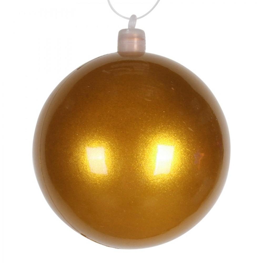 8 cm julekugle, perlemor, guld-31