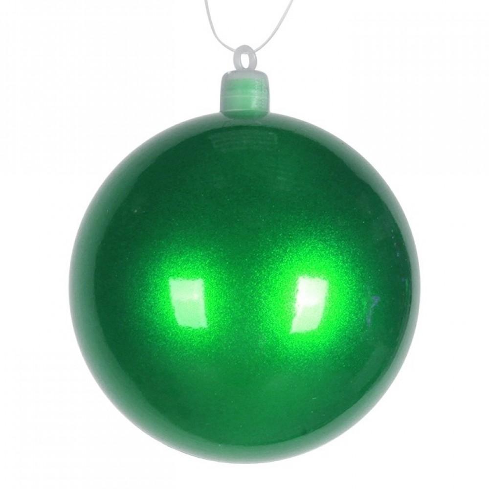 8 cm julekugle, perlemor, grøn-31