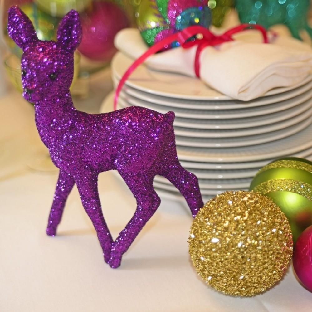 8 cm julekugle, grovglitter, guld-02