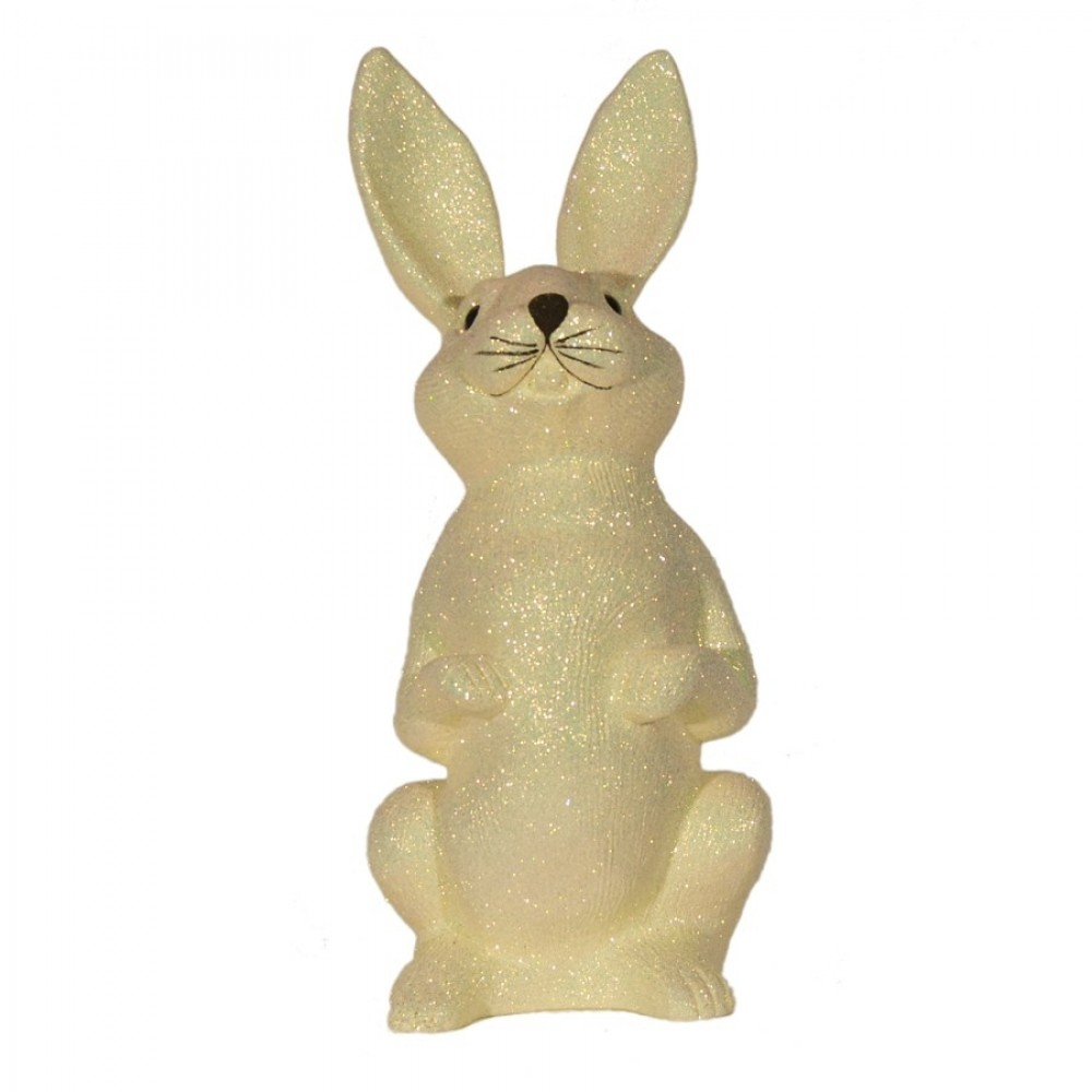 Påskehare, æggeskal-glitter, 48 cm-32