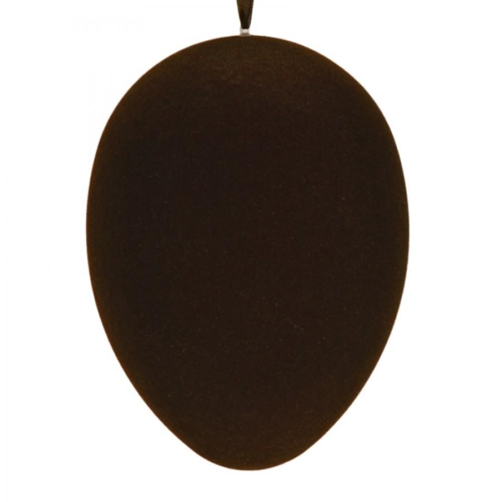 Påskeæg med ophæng, brun velour, 24 cm-31