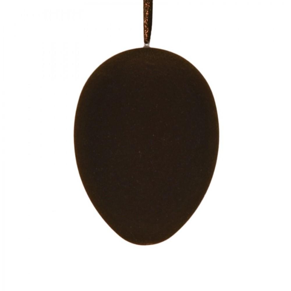 Påskeæg med ophæng, brun velour, 18 cm-31