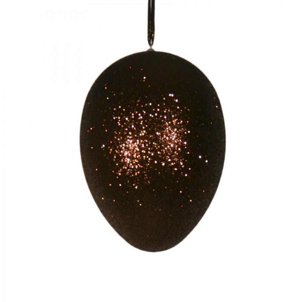 Påskeæg med ophæng, choko glitter, 18 cm-31