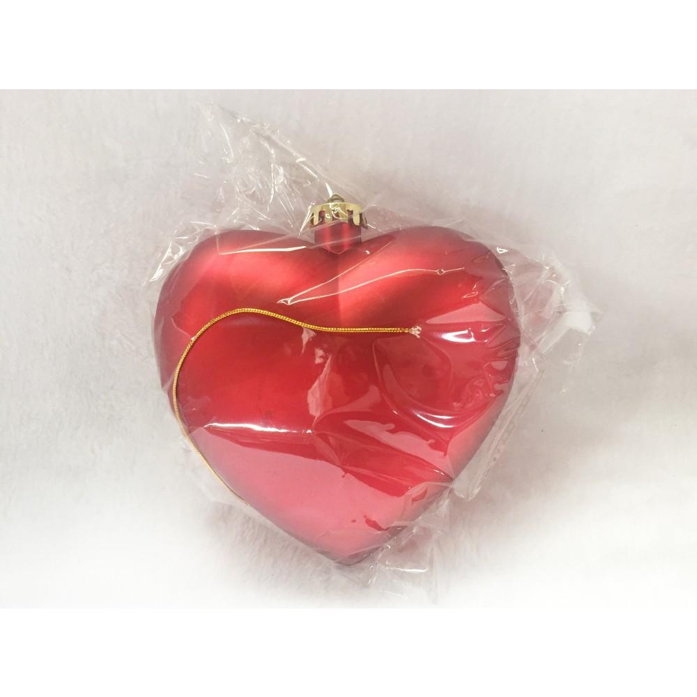 Hjerte, mat rød, 15 cm-02