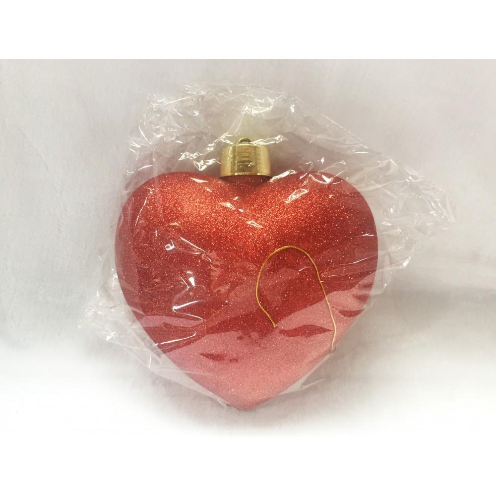 Hjerte, glitter rød, 23 cm-02