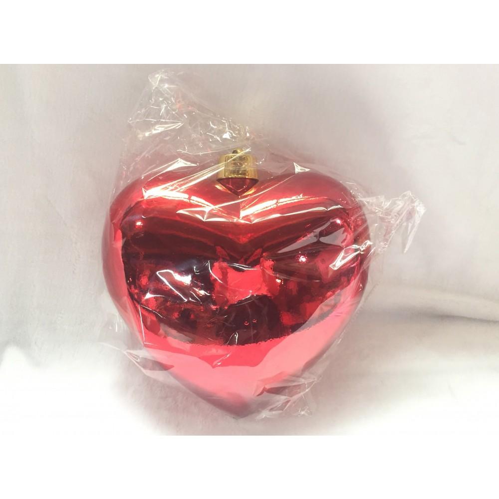Hjerte, blank rød, 30 cm-01
