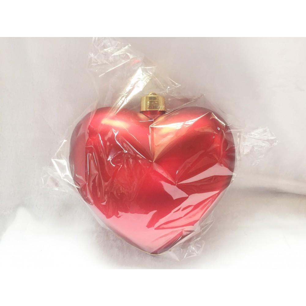 Hjerte, mat rød, 30 cm-02