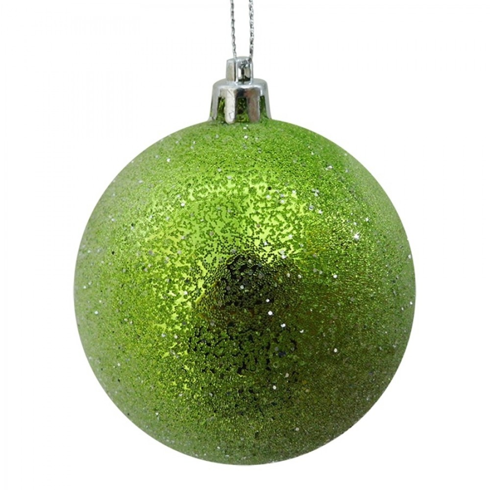 8 cm julekugle, frost, lime-31