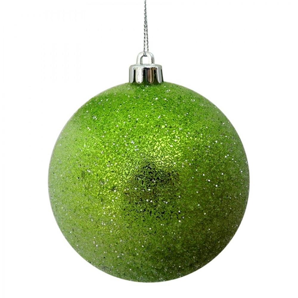 10 cm julekugle, frost, lime-31