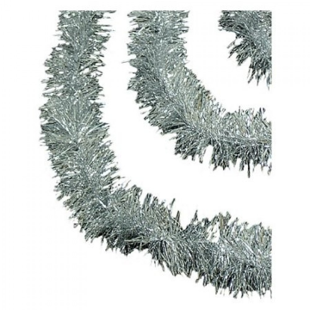 3 meter sølv-lametta, eksklusiv kvalitet, Ø15 cm, 3 meter,-31
