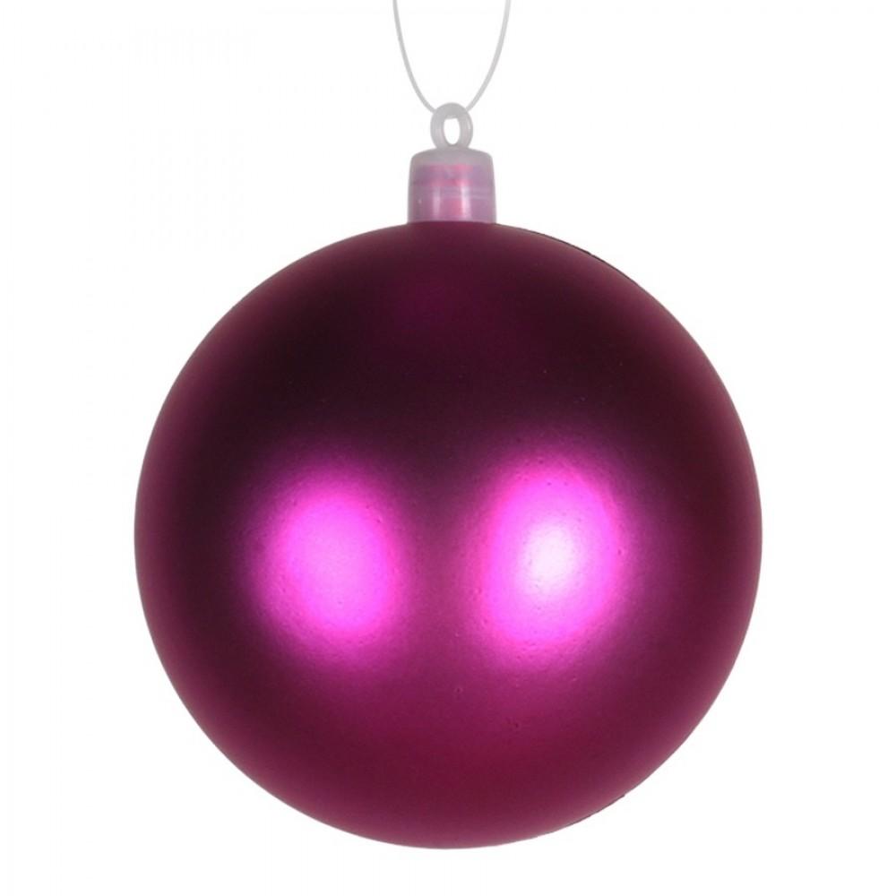 8 cm julekugle, mat, pink-31