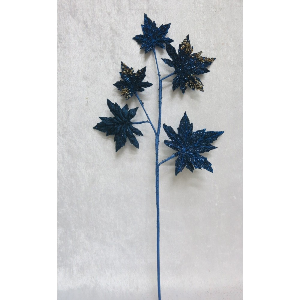 Dekogren, mørk blå med glitter og perler-01
