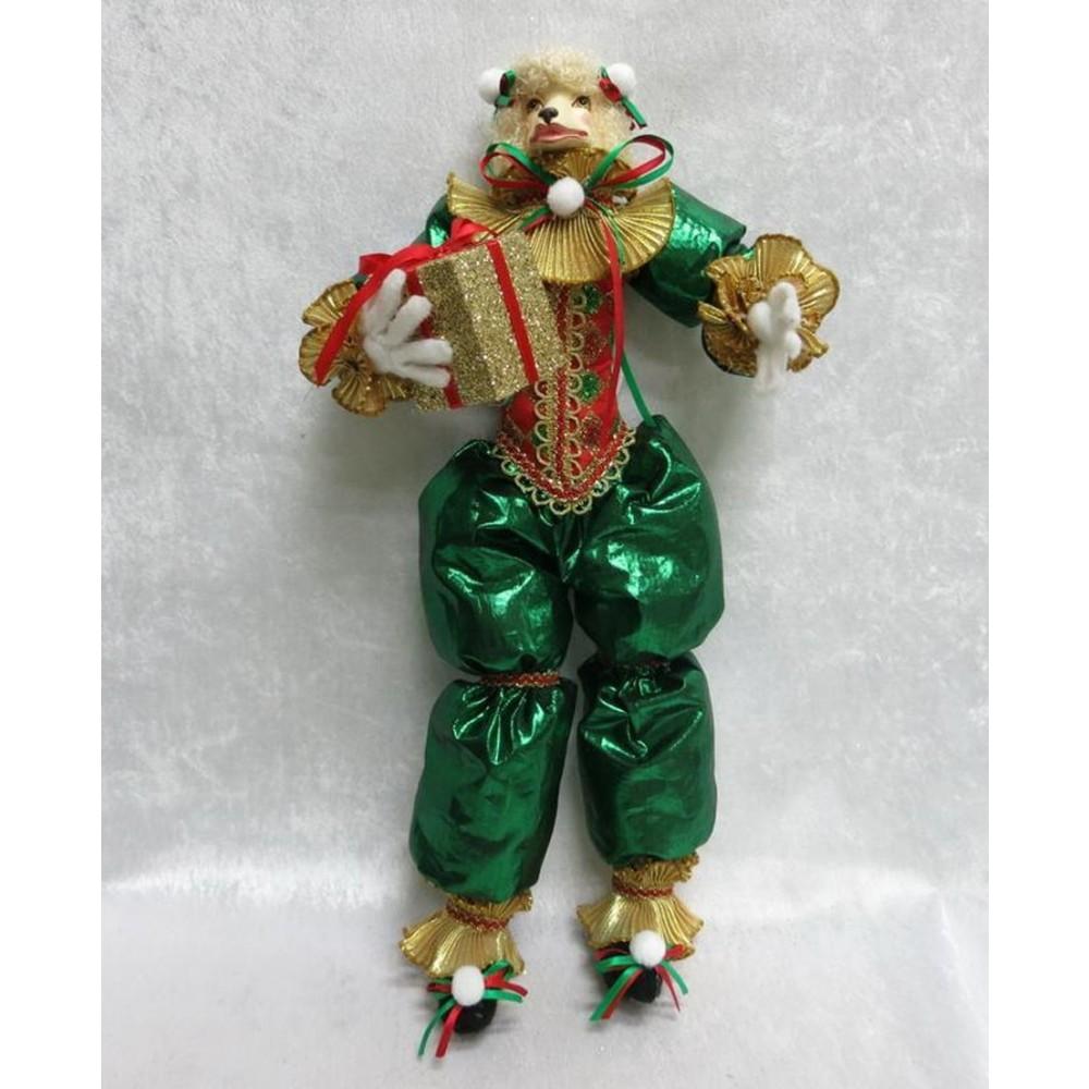 Glad puddel dukke, med gave, 48 cm-03