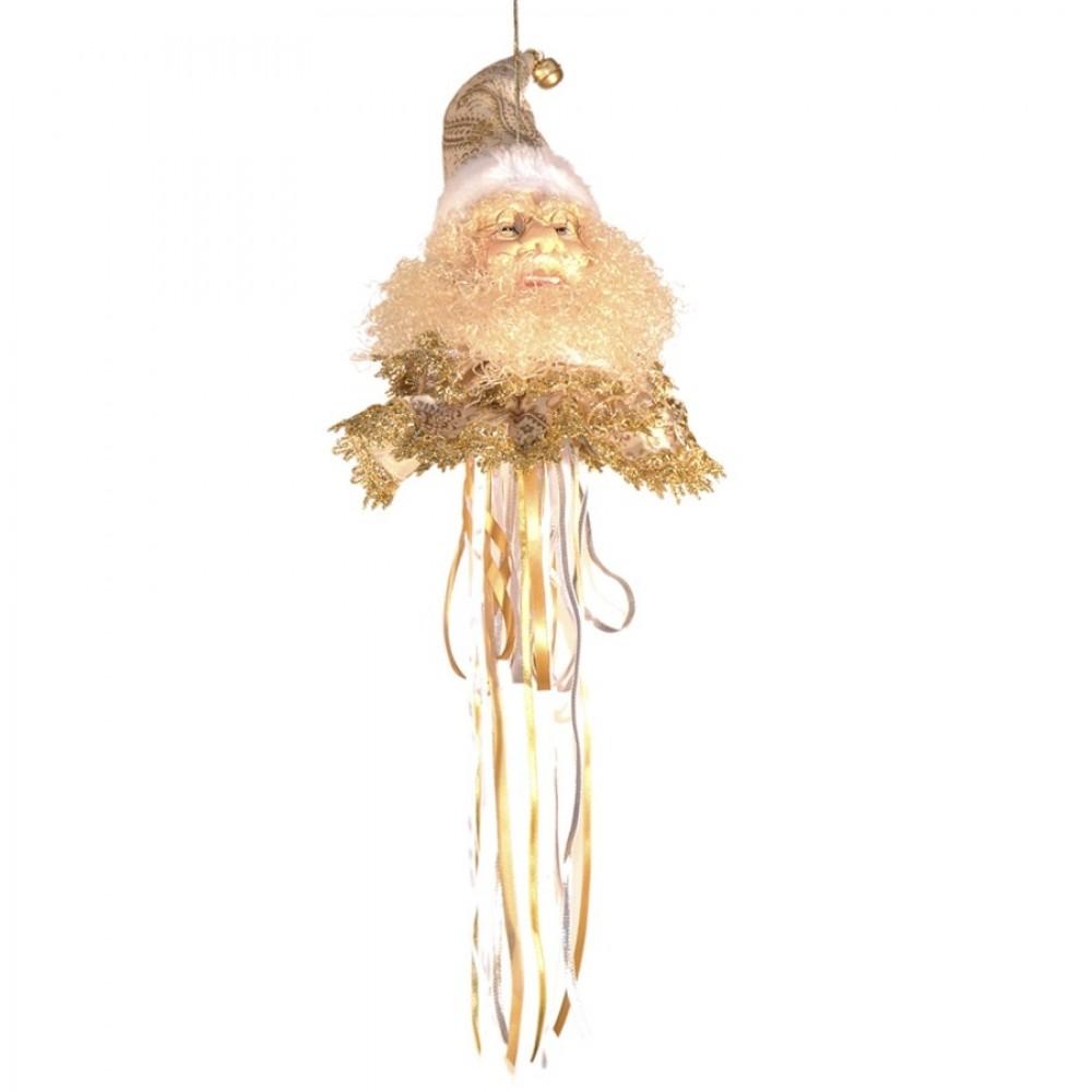Julemands hoved, ornament, 55 cm-33