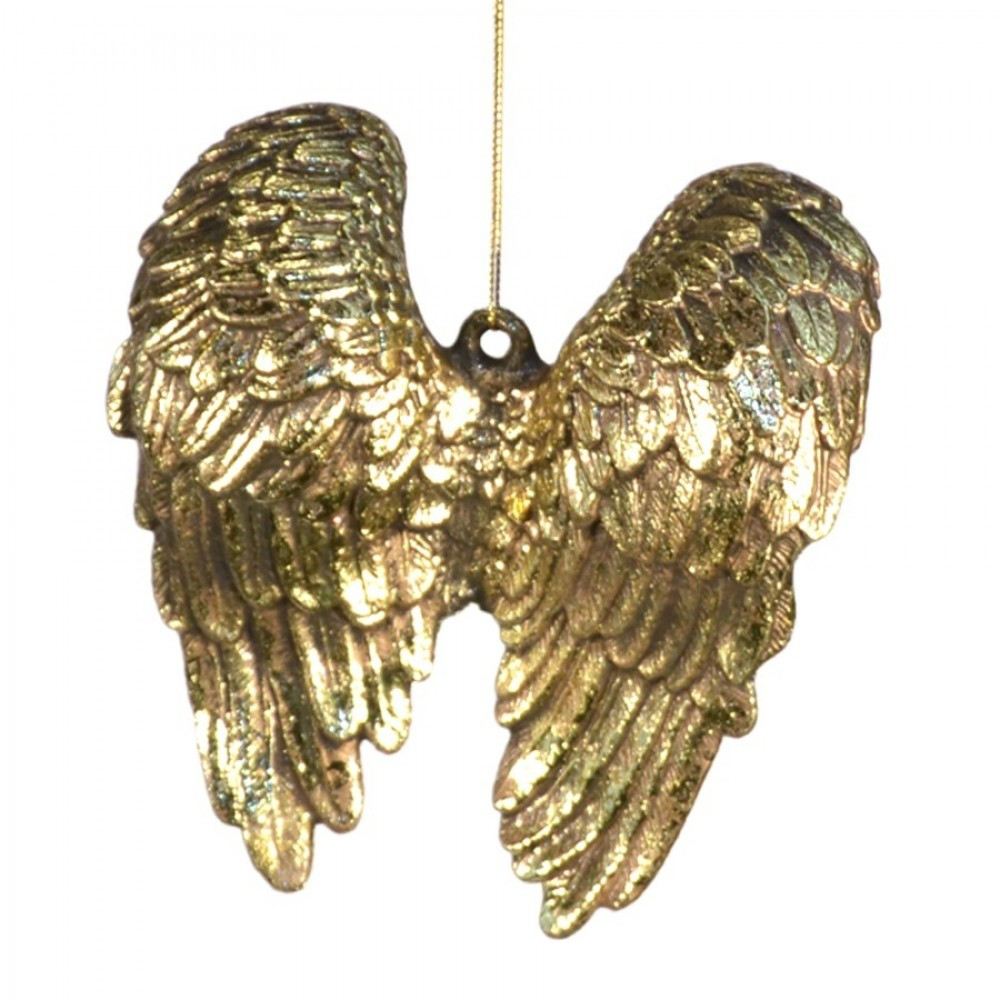 14 cm englevinger, antik guld m/champagne glitter-33