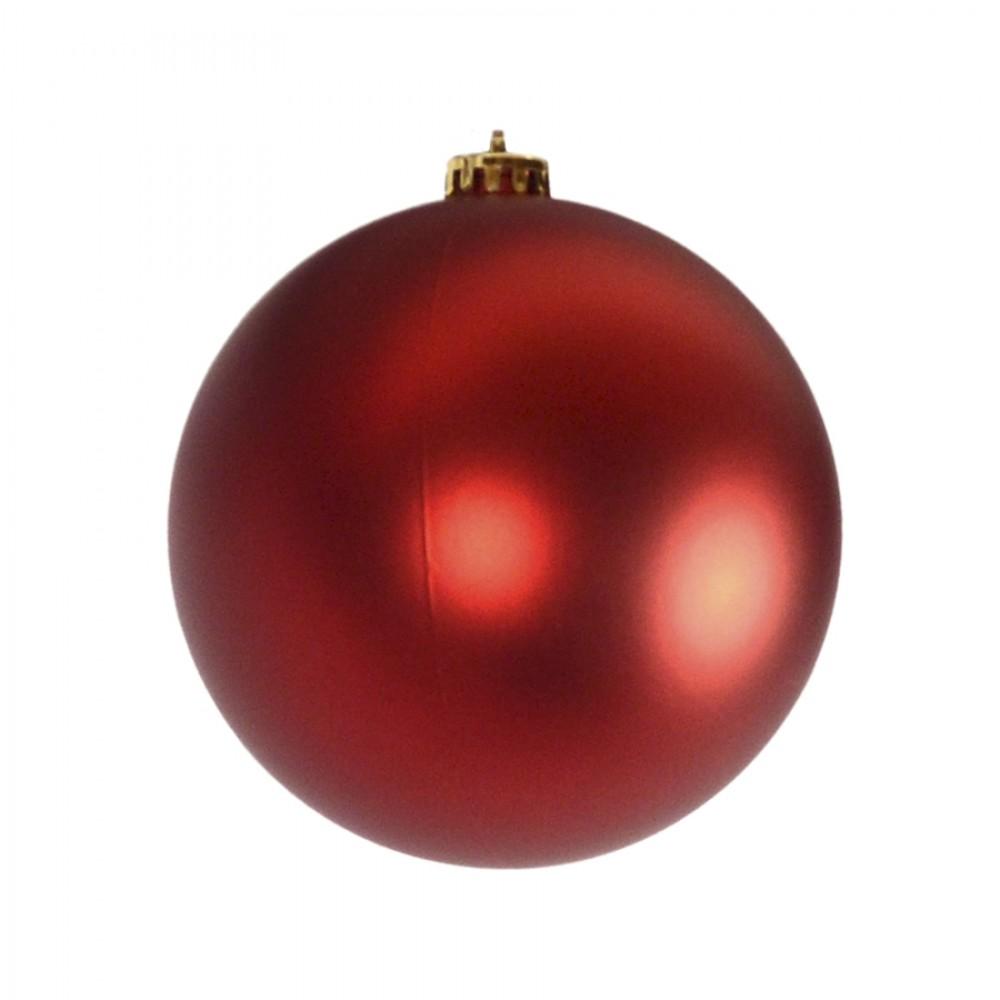 15 cm julekugle, mat rød-32