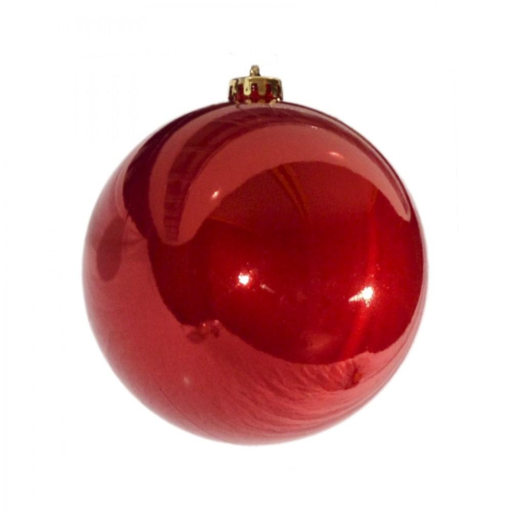 15 cm julekugle, perlemor rød-32