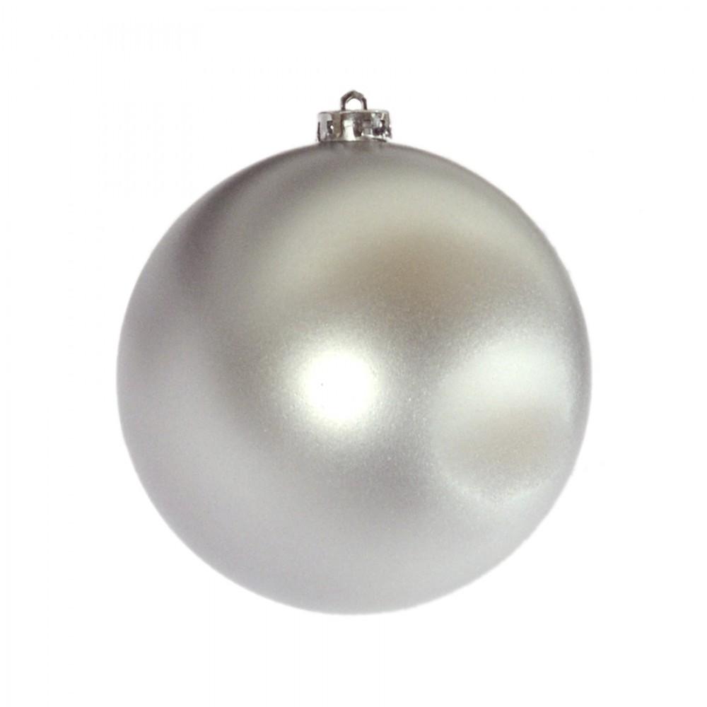 15 cm julekugle, mat sølv-32