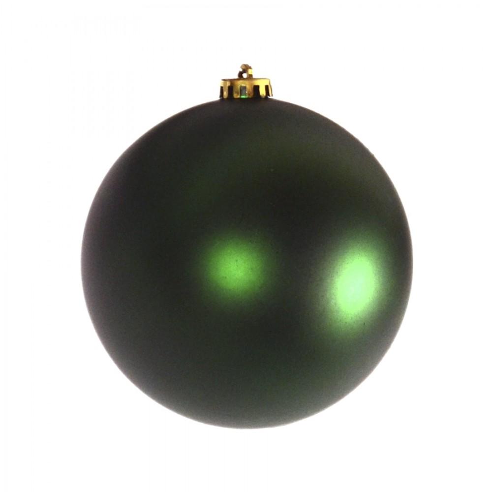15 cm julekugle, mat grøn-32