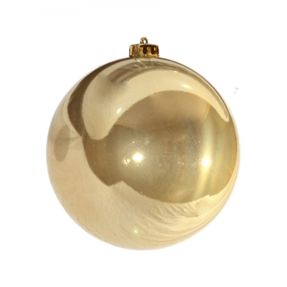 15 cm julekugle, perlemor guld-32