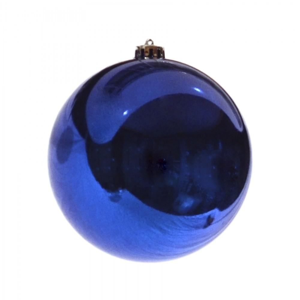 15 cm julekugle, blank blå-33