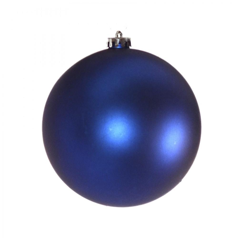 15 cm julekugle, mat blå-32