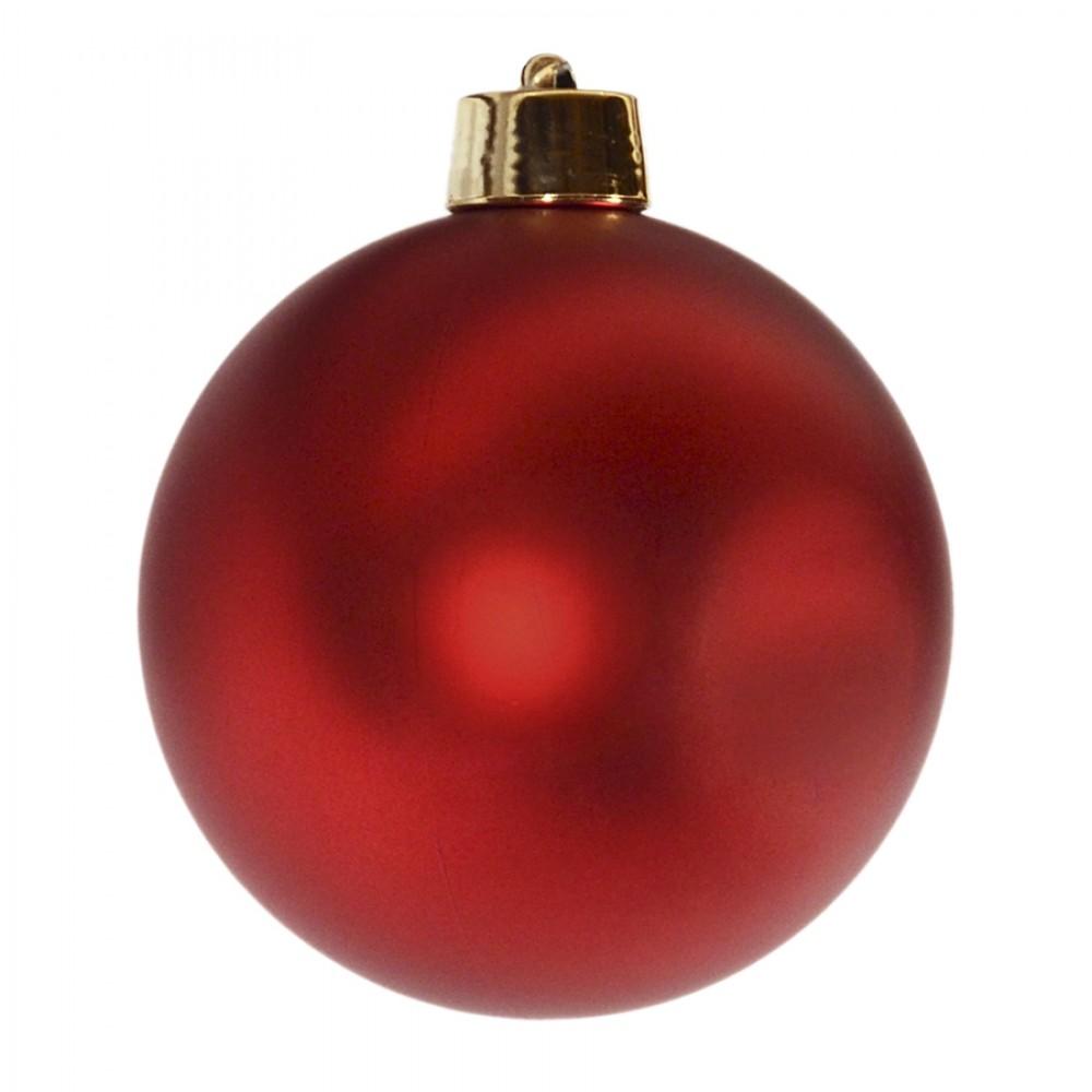 20 cm julekugle, mat rød-32