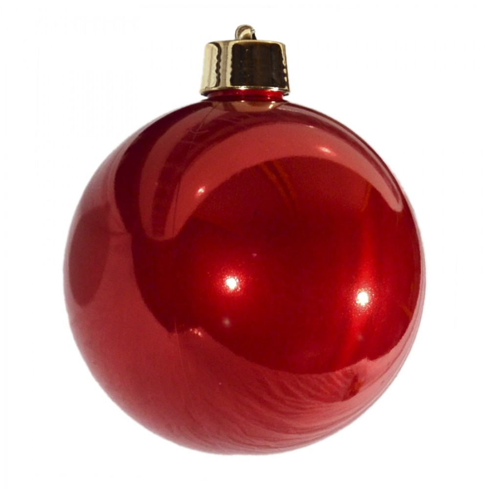 20 cm julekugle, perlemor rød-32