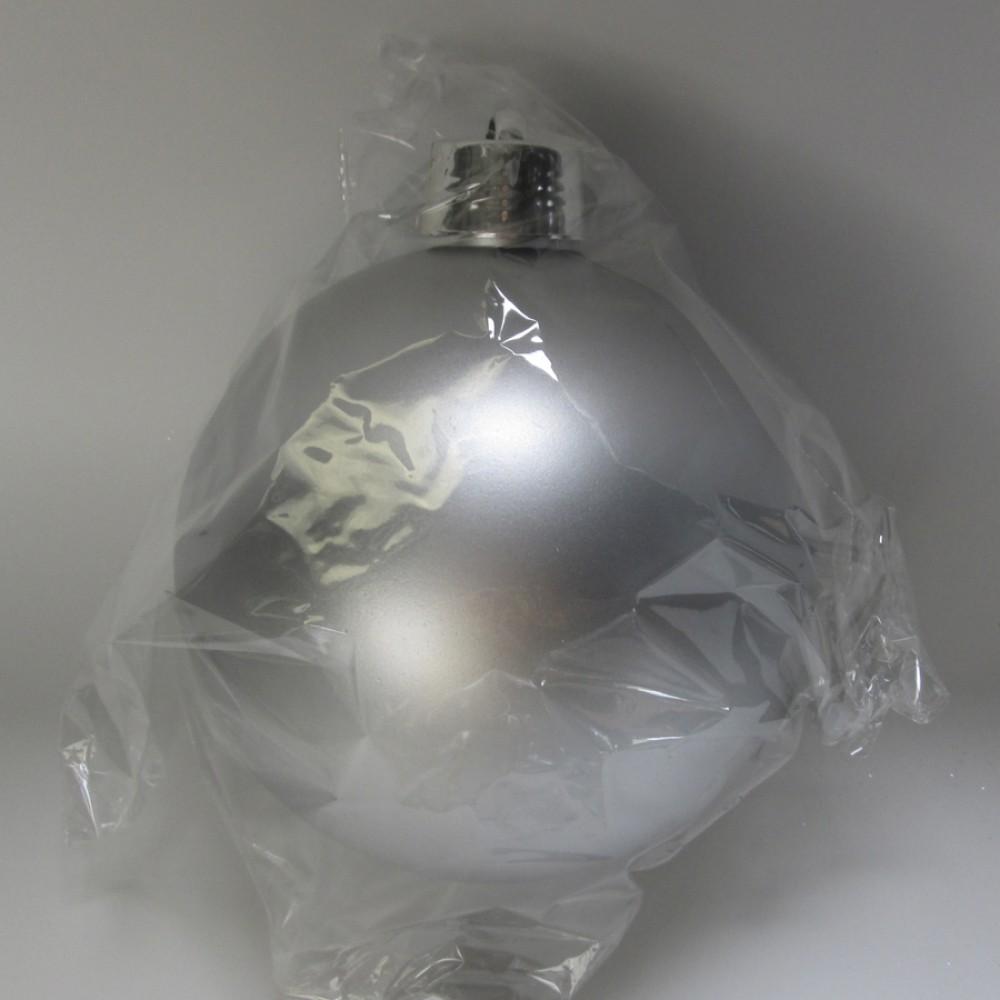 20 cm julekugle, mat sølv-31