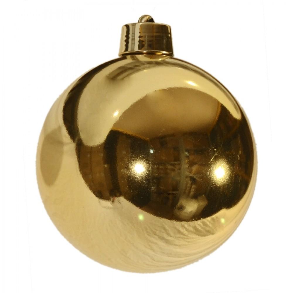 20 cm julekugle, blank guld-32